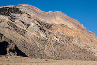 Sedimentary rock strata at the mouth of the Clark's Fork Canyon