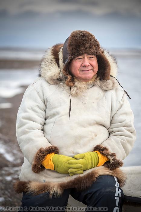 Native Alaskan guide Robert Thompson in Alaska's arctic