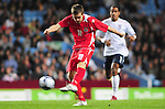 Aron Ramsey shoots from long distance to score Wales Equaliser. England U21 V Wales U21, Uefa European U21 Championship qualifying play-off second leg &copy; Ian Cook IJC Photography iancook@ijcphotography.co.uk www.ijcphotography.co.ukUnholy Alliance Tour 2008,