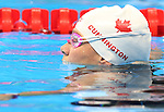 Rio de Janeiro-6/9/2016-Canadian swimmer Tammy Cunnington trains at the Olympic Aquatics Stadium prior to the Paralympic Games in Rio. Photo Scott Grant/Canadian Paralympic Committee