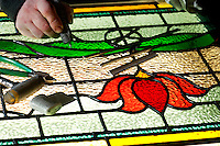 Stained glass repair work <br />