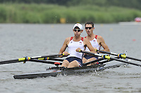 Amsterdam, NETHERLAND,USA BLM 2X. 2011 FISA U23 World Rowing Championships, Thursday, 21/07/2011 [Mandatory credit:  Intersport Images].