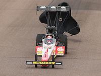 Feb 26, 2017; Chandler, AZ, USA; NHRA top fuel driver Doug Kalitta during the Arizona Nationals at Wild Horse Pass Motorsports Park. Mandatory Credit: Mark J. Rebilas-USA TODAY Sports