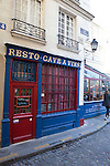 Resto Cave de Vins, a historic landmark restaurant and wine bar on Ile de la Cite, Paris, France, Europe