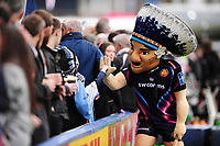 The Exeter Chiefs mascot mingles with supporters in the crowd. Anglo-Welsh Cup Final, between Exeter Chiefs and Leicester Tigers on March 19, 2017 at the Twickenham Stoop in London, England. Photo by: Patrick Khachfe / JMP