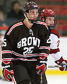 Brandon Pfeil (Brown - 25) - The Harvard University Crimson defeated the visiting Brown University Bears 3-2 on Friday, November 2, 2012, at the Bright Hockey Center in Boston, Massachusetts.