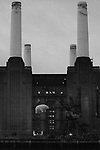26/09/2011 - Pigs on a wing - Pink Floyd recreate the cover of their Animals album - Battersea