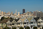 California: San Francisco. Alamo Square with view of Victorians and modern downtown. Photo copyright Lee Foster. Photo #: san-francisco-alamo-square-20-casanf79073