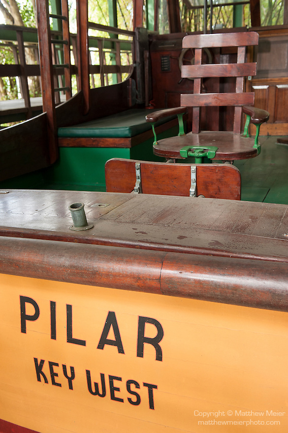 Finca La Vigia, San Francisco de Paula, Cuba; Ernest Hemingway's fishing boat, Pilar, on display at the Hemingway Museum