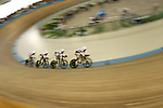 Cycling at the Olympic Velodrome, at the Athens Olympic Sports Complex. Athens, Greece. August 23, 2004...