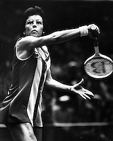 Tennis star Billie Jean King<br />(1978 photo/Ron Riesterer)