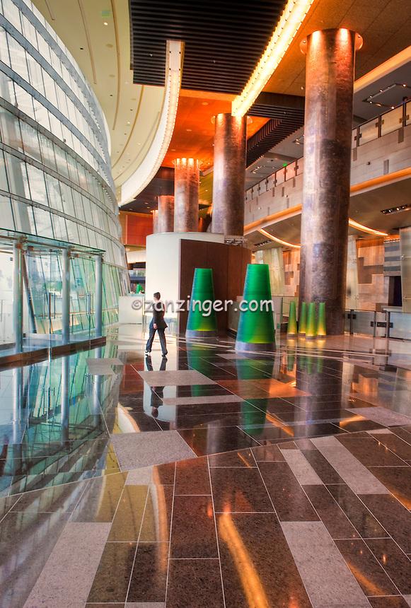 Aria North Lobby Green Sphere Glass Sculptures, Aria Resort & Casino, CityCenter, Las Vegas, Nevada, USA Hospitality