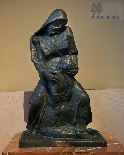 Jan. 10, 2012; Prodigal Son statue, O'Hara chapel, Basilica of the Sacred Heart..Photo by Matt Cashore/University of Notre Dame