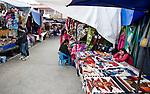 Colorful marketplace in Otavalo Ecuador