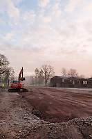 The planned site of the new brewery. Dojima Sake Brewery, Ely, UK, December 6, 2016.The Fordham Abbey Estate is set to be the site of the UK's first sake brewery. Work is underway on a new brewery and visitor centre, while the Grade II listed Georgian main house will host Japanese food and sake tasting events.