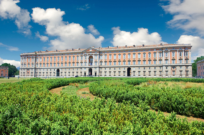Front of the Kings of Naples Royal Palace of Caserta, Italy. A UNESCO World Heritage Site