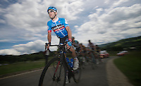 Nathan Haas (AUS) first one at the start of La Redoute<br /> <br /> 2013 Ster ZLM Tour <br /> stage 4: Verviers - La Gileppe (186km)