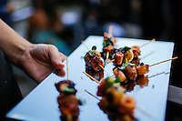 NEW YORK, NY JUNE 29: Creation from peruvian-born Chef Franco Barrio are served at la Fete Opening at Ramscale Studios in Manhattan on June 29, 2016 in New York City. (Photo by VIEWpress)