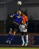 The number 24 ranked Furman Paladins took on the number 20 ranked Clemson Tigers in an inter-conference game at Clemson's Riggs Field.  Furman defeated Clemson 2-1.  Tyler Peoples (15), Richard Robinson (27)