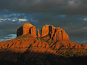 Last light on Cathedral Rock Sedona, AZ.