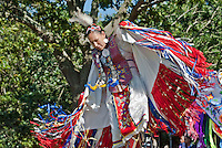 New York, Southampton, Shinnecock Powow, Shinnecock Indian Nation, Indian woman dancing