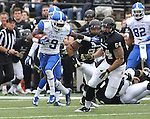UK wide receiver Demarco Robinson runs the ball during the first half of the University of Kentucky vs. Vanderbilt University football game at Vanderbilt Stadium in Nashville, Tenn., on Saturday, November 16, 2013. Vanderbilt won 22-6. Photo by Tessa Lighty | Staff