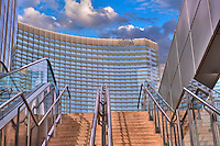 Aria Hotel Resort & Casino,  City Center, Las Vegas Nevada, hotel tower, casino, convention center, and luxury condominium units, Hospitality, No People, Travel, Destination, View,