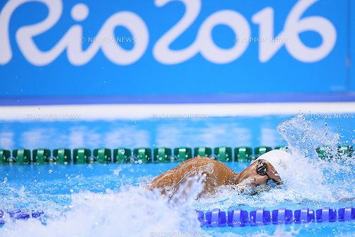 Rami Anis (ROA), <br /> AUGUST 9, 2016 - Swimming : <br /> Men's 100m Freestyle Heat <br /> at Olympic Aquatics Stadium <br /> during the Rio 2016 Olympic Games in Rio de Janeiro, Brazil. <br /> (Photo by Yohei Osada/AFLO SPORT)