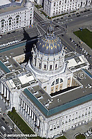 aerial photograph San Francisco city hall civic center