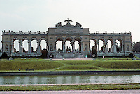 Vienna: Schonbrunn Palace--The Gloriette, a decorative pavilion built to commemorate an Austrian victory at Kolin (1757) over Frederick the Great. Photo '87.