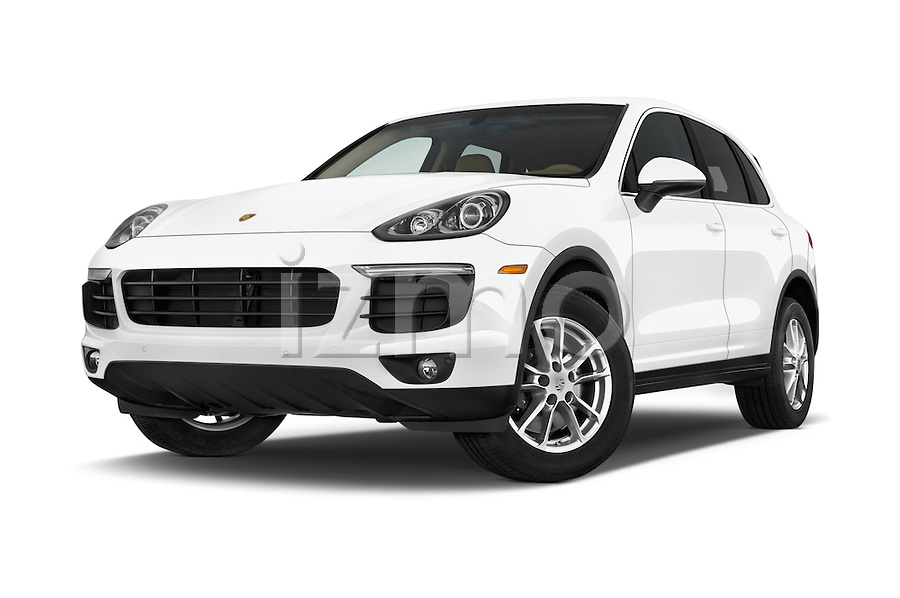 stock pictures of low aggressive front three quarter view of a 2016 porsche cayenne diesel 5. Black Bedroom Furniture Sets. Home Design Ideas