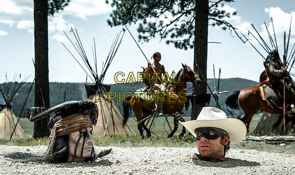 Johnny Depp & Armie Hammer.in The Lone Ranger (2013) .*Filmstill - Editorial Use Only*.CAP/NFS.Supplied by Capital Pictures.
