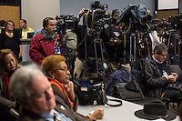 Durham Police hold a press conference to discuss the report on the alleged suicide of Jesus Huerta, 17, while in police custody on November 19, 2013 at police headquarters inDurham, N.C. on Friday, January 10, 2014. (Justin Cook)