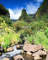 View of Iao needle, Iao Valley State Park, Maui, Hawaii