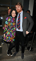 Amy Molyneaux and her husband at the &quot;Morphosis&quot; exhibition private view, Gallery Different, Percy Street, London, England, UK, on Wednesday 19 April 2017.<br /> CAP/CAN<br /> &copy;CAN/Capital Pictures