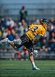 16 April 2016: University of Maryland, Baltimore County Retriever Midfielder Billy Nolan, a Freshman from Crofton, MD, in action against the University of Vermont Catamounts at Virtue Field in Burlington, Vermont. The Retrievers fell to the Catamounts 14-10 in NCAA Division I play. Mandatory Credit: Ed Wolfstein Photo *** RAW (NEF) Image File Available ***