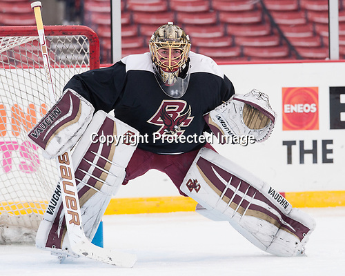 Ryan Edquist (BC - 35) - The Boston College Eagles practiced at Fenway on Friday, January 6, 2017, in Boston, Massachusetts.