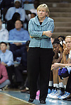 26 February 2012: UNC head coach Sylvia Hatchell. The Duke University Blue Devils defeated the University of North Carolina Tar Heels 69-63 at Carmichael Arena in Chapel Hill, North Carolina in an NCAA Division I Women's basketball game.
