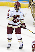 Kyle Kucharski (Boston College - Saugus, MA) takes part in warmups. The Michigan State Spartans defeated the Boston College Eagles 3-1 (EN) to win the national championship in the final game of the 2007 Frozen Four at the Scottrade Center in St. Louis, Missouri on Saturday, April 7, 2007.