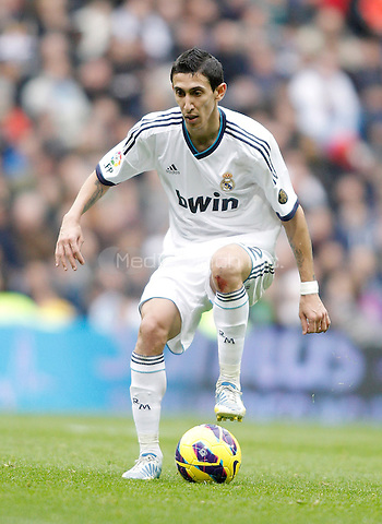 Real Madrid's Angel Di Maria during La Liga match. January 27, 2013. (ALTERPHOTOS/Alvaro Hernandez) NortePhoto /MediaPunch Inc. ***FOR USA ONLY***