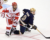 Luke Popko (BU - 26), Ryan Thang (Notre Dame - 9) - The University of Notre Dame Fighting Irish defeated the Boston University Terriers 3-0 on Tuesday, October 20, 2009, at Agganis Arena in Boston, Massachusetts.