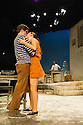 London, UK. 31.05.2016. SUNSET AT THE VILLA THALIA, by Alexei Kaye Campbell, opens at the Dorfman, at the National Theatre. Directed by Simon Godwin. Picture shows: Sam Crane (Theo), Pippa Nixon (Charlotte), Ben Miles (Harvey), Elizabeth McGovern (June). Photograph © Jane Hobson.