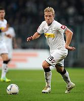 FUSSBALL   1. BUNDESLIGA   SAISON 2011/2012    15. SPIELTAG Borussia Moenchengladbach - Borussia Dortmund        03.12.2011 Mike HANKE (Moenchengladbach) Einzelaktion am Ball