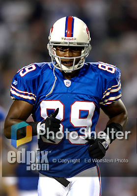 8 October 2007: Buffalo Bills wide receiver Sam Aiken awaits the start of play against the Dallas Cowboys at Ralph Wilson Stadium in Buffalo, New York. The Cowboys defeated the Bills 25-24 winning their fifth consecutive game of the season...Mandatory Photo Credit: Ed Wolfstein Photo