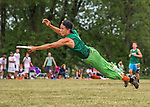 22 May 2016: The Vermont Commons School Flying Turtles play Columbia High School in the Pioneer Valley Ultimate Disk Invitational Tournament at the Oxbow Marina Fields in Northampton, Massachusetts. The Turtles defeated Columbia 15-6 to advance in the Division. Mandatory Credit: Ed Wolfstein Photo *** RAW (NEF) Image File Available ***