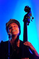 Esperanza Spalding, Jazz musician, playing in Palacio de Cristal, Porto. 2010