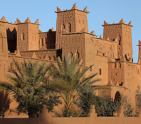 Kasbah Amerhidil, Skoura, Ouarzazate province, Souss-Massa-Draa, Morocco. This fortified residence was built in the 17th century by sheikh Med Skouri Naciri and once belonged to the Glaoua family. It is now owned by the sheikh of Amerhidil. It is the best known kasbah of the Skoura oasis and is built on 4 floors around a central courtyard. Picture by Manuel Cohen