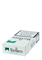 Packet of Ten Marlboro Menthol Cigarettes - Feb 2013.