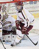 Cam Spiro (BC - 15) - The Boston College Eagles tied the visiting Yale University Bulldogs 3-3 on Friday, January 4, 2013, at Kelley Rink in Conte Forum in Chestnut Hill, Massachusetts.