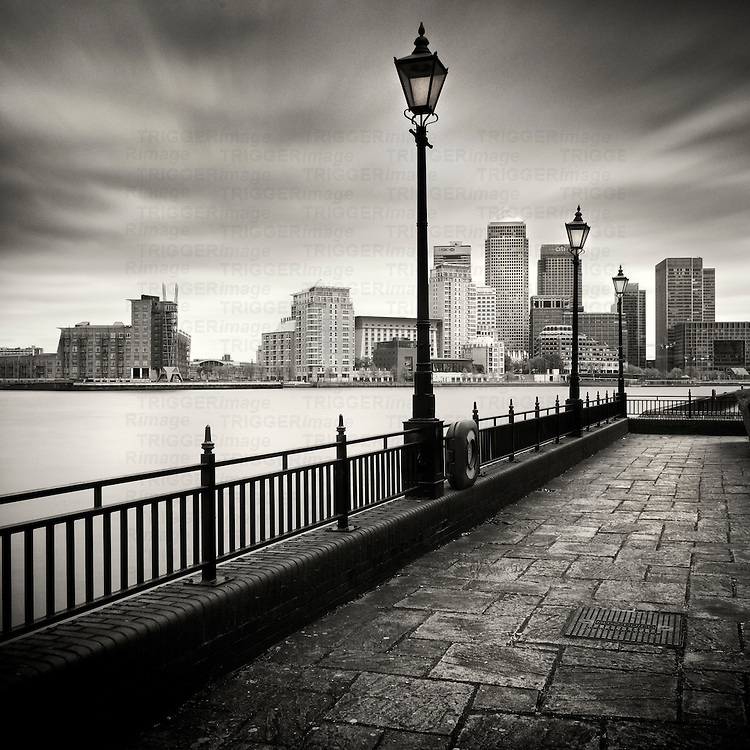 High rise buildings in Canary Wharf, London